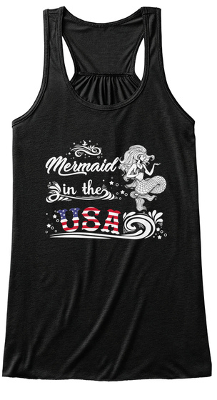 b2391a4ac3ea46 Mermaid In The Usa Flag Top Products from Cool Women T- Shirt Store ...