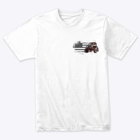 Tj Forum Heather White T-Shirt Front
