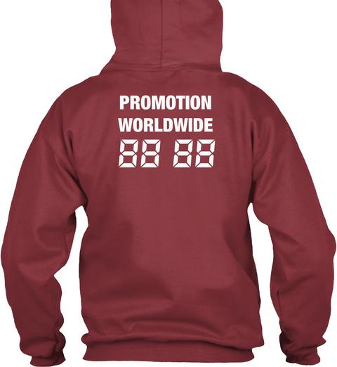 Promotion Worldwide 88 88 Maroon T-Shirt Back