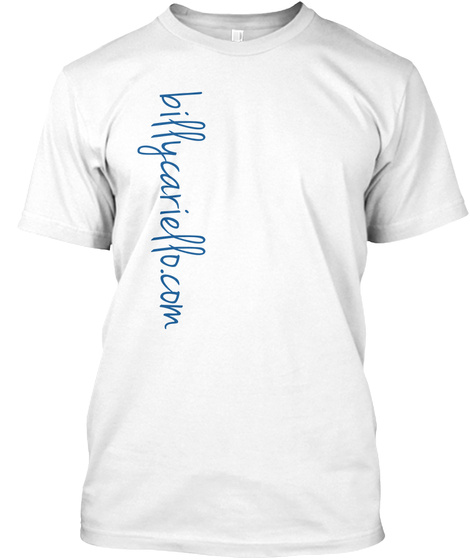 Billycariello.Com White T-Shirt Front