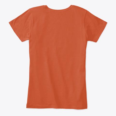 Minimalist Shirt For Women And Men  Deep Orange T-Shirt Back
