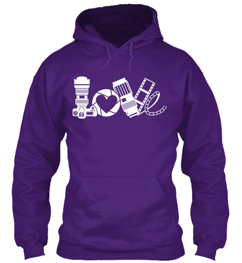 Photography Love Hoodie Limited Edition Purple Sweatshirt Front