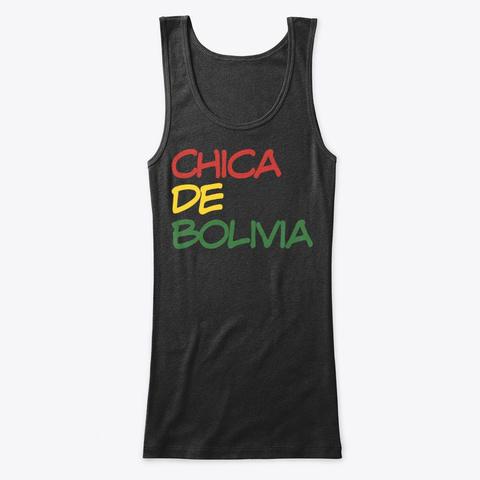 Chica De Bolivia Black T-Shirt Front