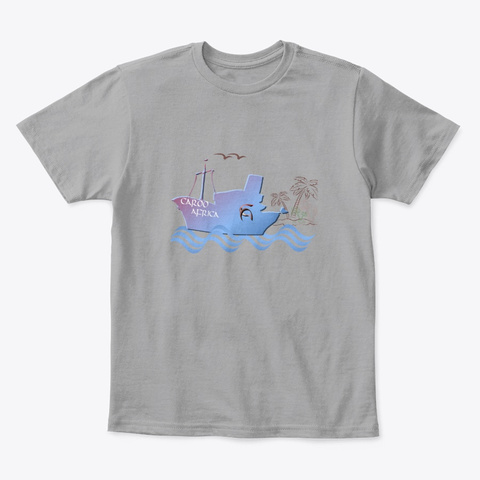 Caroo Africa Harbor Palm Trees  Light Heather Grey  T-Shirt Front