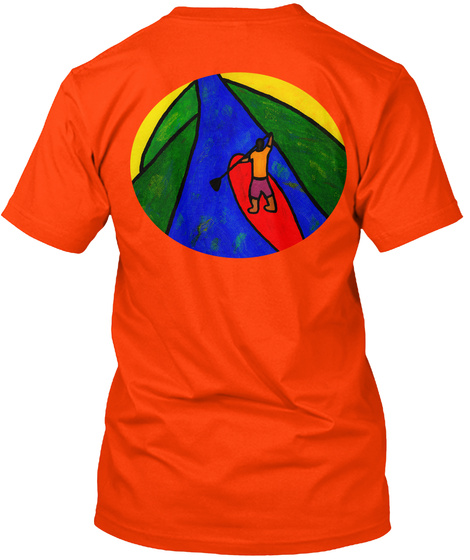 Sup Fun!! Orange T-Shirt Back