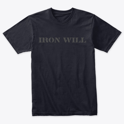Iron Well Vintage Navy T-Shirt Front