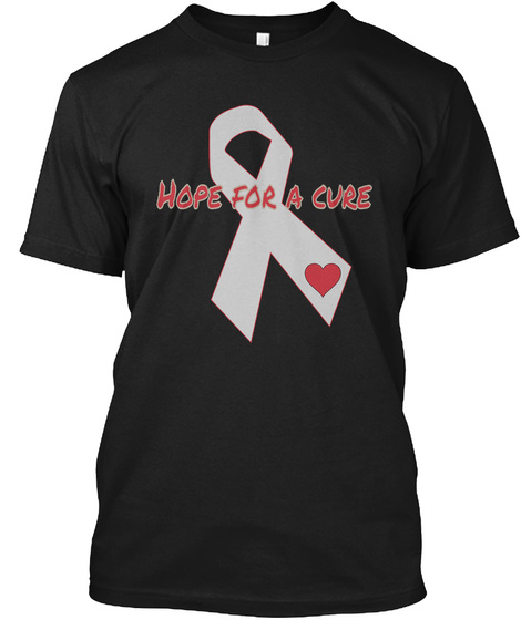 Hope For A Cure Black T-Shirt Front