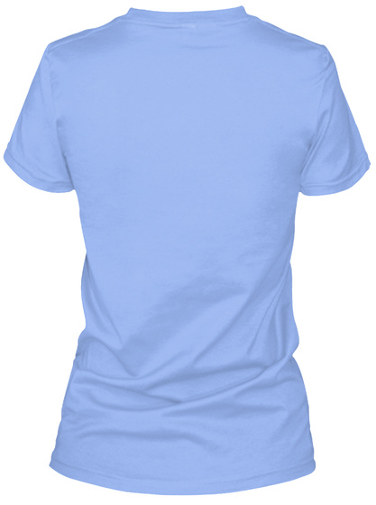 Zsr Relaxed Tee(Women) Light Blue Women's T-Shirt Back