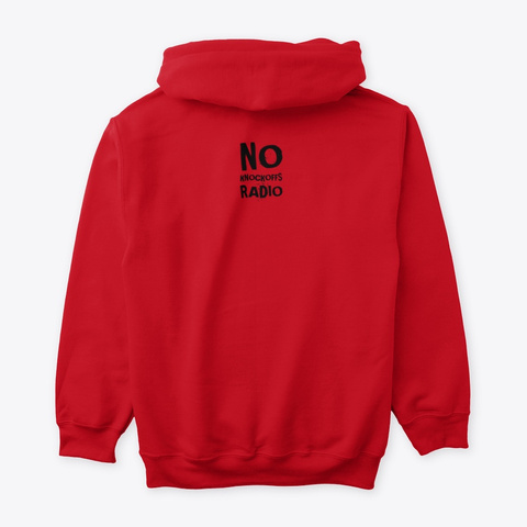 Words And Lifestyle Hoodie Red T-Shirt Back