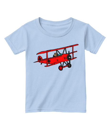 2aa64259 from Kid Front Parent Back. Subscriber Exclusive. Red Baron (2 T 4 T) Light  Blue T-Shirt Front