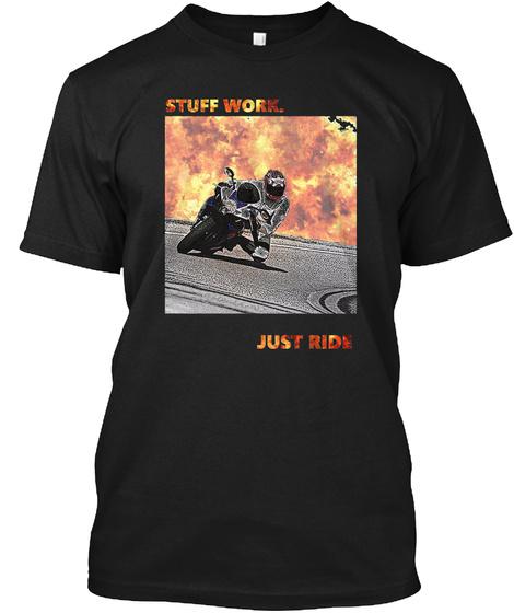 Proud Members Of Adelaide Street Bikes Black T-Shirt Front