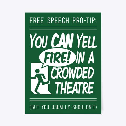 Free Speech Pro Tip Dark Green T-Shirt Front