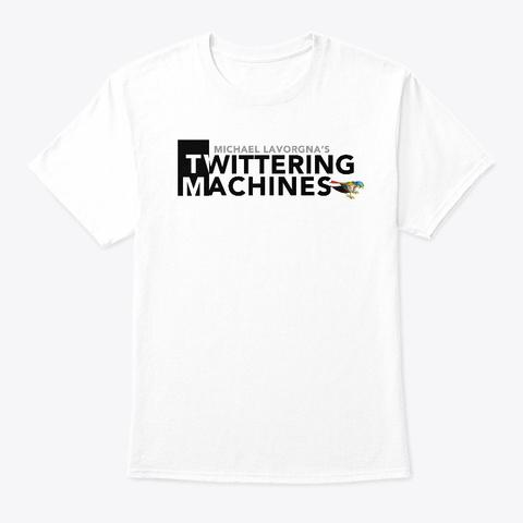 Twittering Machines Logo T Shirt White Kaos Front