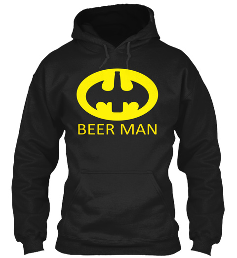 Beer Man Black T-Shirt Front