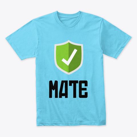 Intellec T | Check Mate Tahiti Blue T-Shirt Front