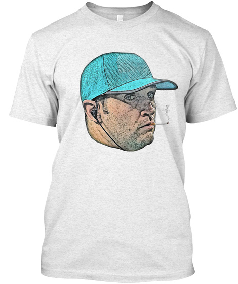 Smokin' Jay Heather White T-Shirt Front
