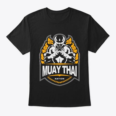 Muay Thai Shirt, Kickboxing Shirt Black T-Shirt Front