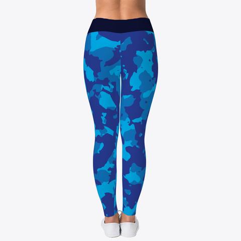 Blue Camo Yoga Pant Black T-Shirt Back