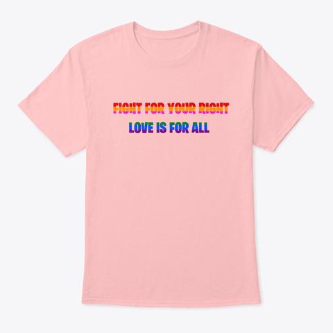 Pride Shirt Pale Pink T-Shirt Front
