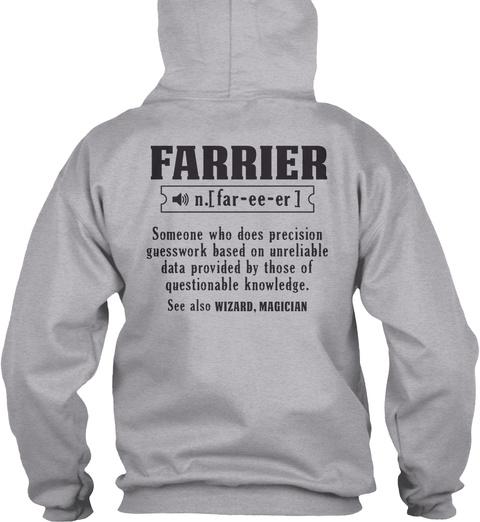 Farrier Sport Grey T-Shirt Back