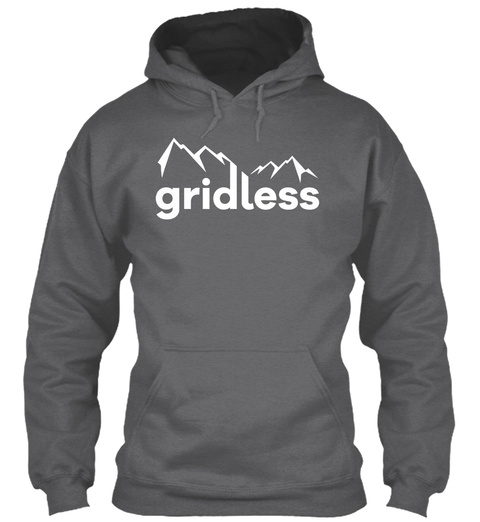 Gridless Life Classic Hoodie Dark Heather T-Shirt Front