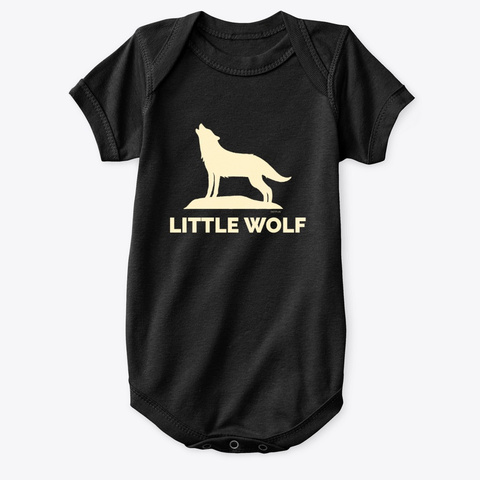 Little Wolf Big Wolf Tee Black T-Shirt Front