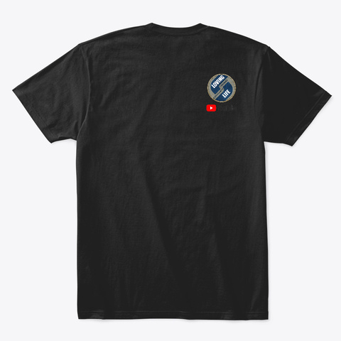 Bonny Hut Originals   Lion Black T-Shirt Back