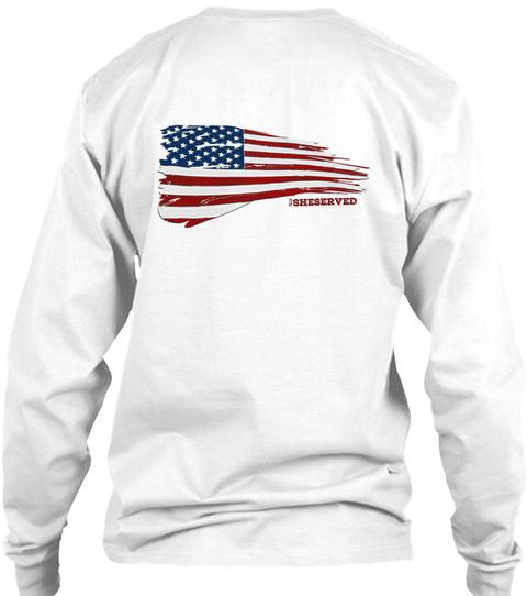 #Sheserved White Long Sleeve T-Shirt Back