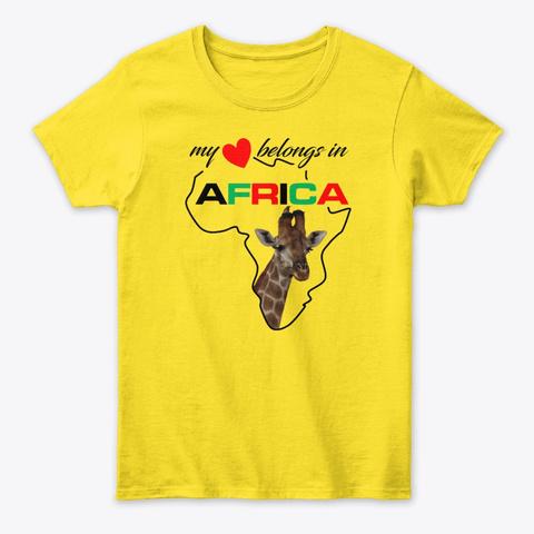 My Heart Belongs In Africa   Giraffe Daisy T-Shirt Front