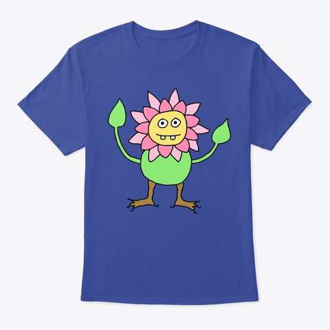 Flower Person   Nature Funny Deep Royal T-Shirt Front