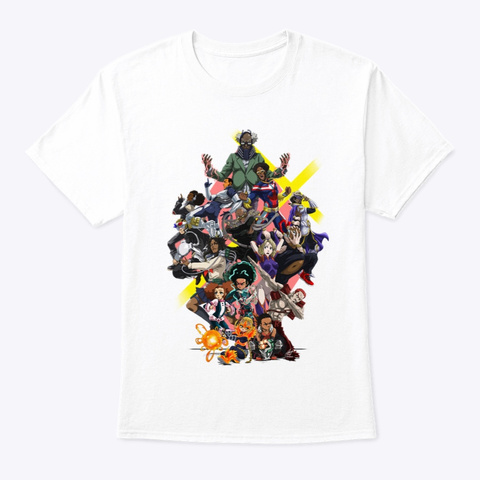 My Boondocks Academia  White T-Shirt Front