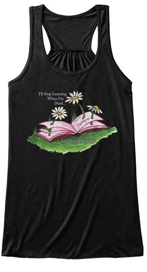 Pushing Up Daisies Yoga Shirt Black T-Shirt Front