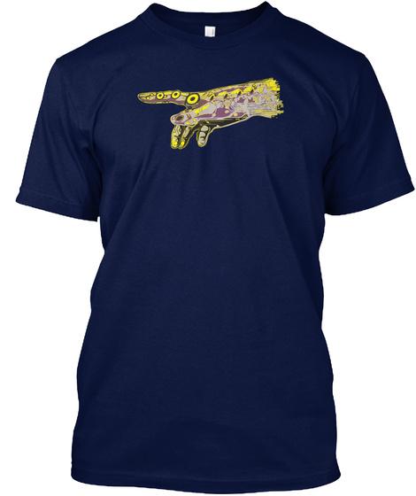 The Singularity Creation Of Adam Art Navy T-Shirt Front