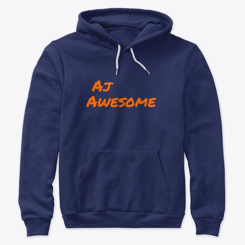 Aj Awesome Merch Navy T-Shirt Front