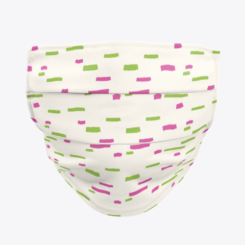 Pink And Green Dashes And Dots Standard T-Shirt Front