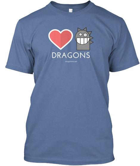 Dragonsinn.Net Denim Blue T-Shirt Front