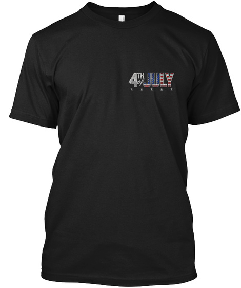 4th July Black T-Shirt Front