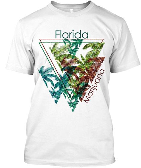 Florida Marijuana White T-Shirt Front