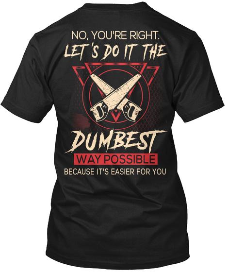Awesome Carpenter Black T-Shirt Back