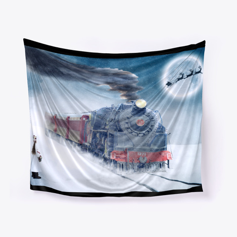 Christmas Train Black T-Shirt Front