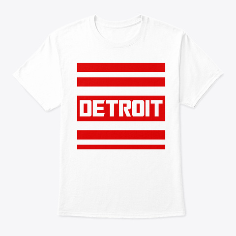 Detroit Transformer Wings White T-Shirt Front