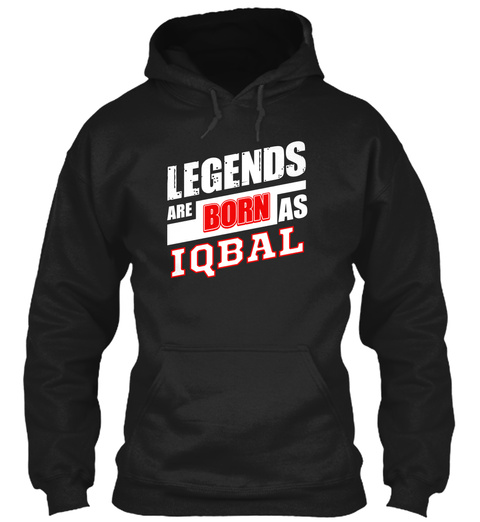 Iqbal Family Name Shirt Black T-Shirt Front