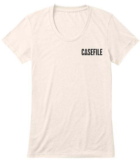 Casefile Female Dark (Aa Triblend) Oatmeal T-Shirt Front