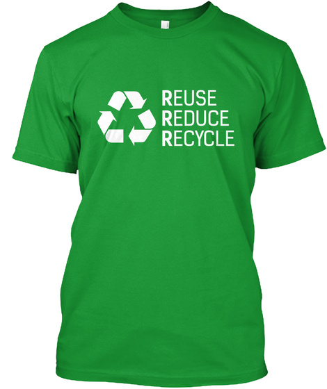 Rescue Reduce Recycle Kelly Green T-Shirt Front