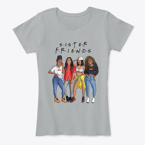 Fro Hair Beauty Sister Friends Lifestyle Grey T-Shirt Front