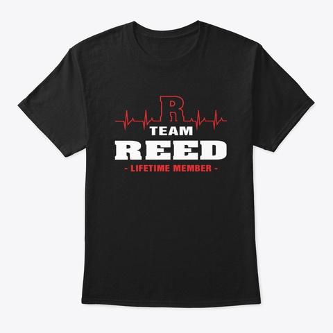 Team Reed Lifetime Member T Shirts Black T-Shirt Front