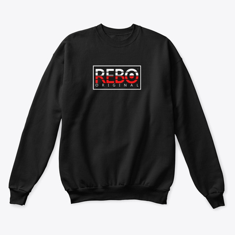 Rebo I Sqr  Black T-Shirt Front