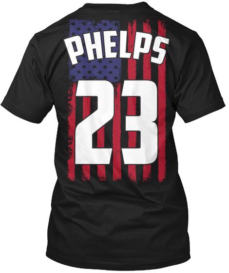 Phelps 23 Black T-Shirt Back