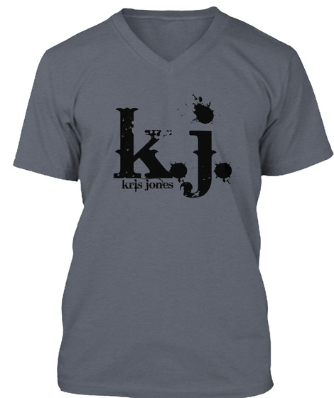K. J. Kris Jones Deep Heather T-Shirt Front