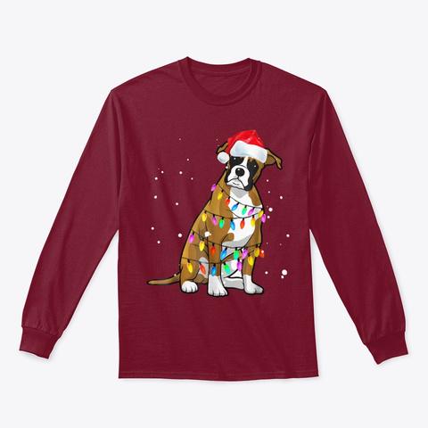 Boxer Christmas T Shirt Boxer Dog Xmas Cardinal Red T-Shirt Front